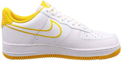 Pictures of Nike Men's Air Force 1 '07 White/ Yellow Ochre 7.5 M US 3