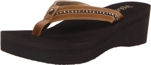 Cobian Women's Tiffany Flip Flop,Tan,9 M US