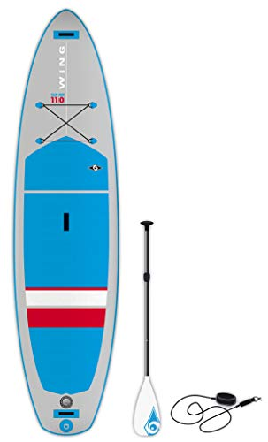 BIC Sport Wing SUP Air Inflatable Stand Up Package Complete with Paddle Board Blue/Grey/Red, 11'0""
