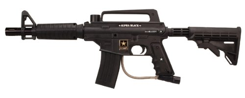 Tippmann US Army Alpha Black Tactical Edition Paintball Marker (M16 Style Barrel)