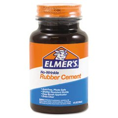 Glue Rubber Cement (Elmer's E904 Rubber Cement, Repositionable, 4 oz)