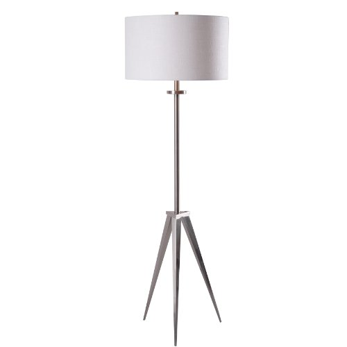 Kenroy Home 32263BS Foster Floor Lamp, Brushed Steel Finish, 18 x 18 x 58