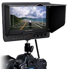 Professional LILLIPUT 7'' 665 /O/P 665GL-70NP/HO/Y/P Color TFT LCD Monitor With HDMI, YPbPr, AV Input HDMI Output / With F-970 & QM91D Battery Plate + Sun Shade Cover + Free Hot-shoe Mount/ 4 NEW Function: Peaking Filter , False Color Filter, Zebra