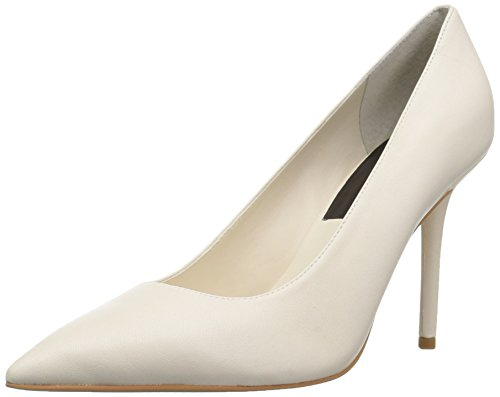 Dolce Vita Women's Mika Pump, Ivory Leather, 7.5 Medium US by Dolce Vita