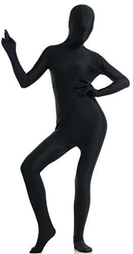 [VSVO Unisex Spandex Full Body Suit for Adults and Children (Small, Black)] (Adult Black Suit Superman Costumes)