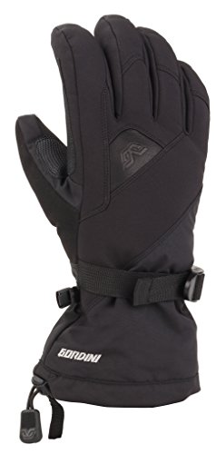 Gordini Aquabloc Down Gauntlet - Gordini Women's Women's Aquabloc Down Gauntlet Iv Waterproof Gloves, Black, Small
