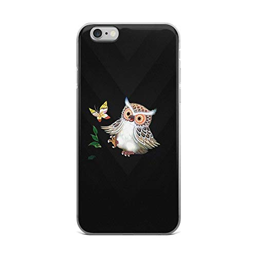 iPhone 6 Plus/6s Plus Pure Clear Case Cases Cover Cute Owl and Butterfly