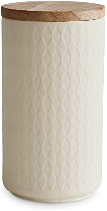 Springlane Keramik Vorratsdose groß grau 900 ml Aufbewahrung Vase Dose Box  1d