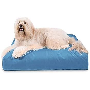 Amazon.com : K9 Ballistics LUX Round Bed Cream Fur/Blue