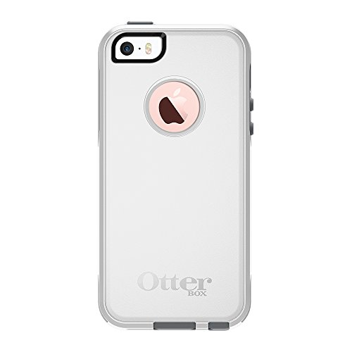 OtterBox COMMUTER SERIES Case for iPhone 5/5s/SE - Retail Packaging - GLACIER (WHITE/GUNMETAL GREY)