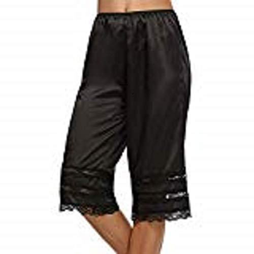 Avidlove Women Lingerie Satin Pettipants Snip-it Culottes Slips Bloomers (Small, Style1-Black (FBA))