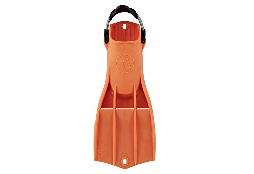 Apeks RK3 Military Rubber Fin with Adjustable Stainless Steel Spring Straps (Orange, Large)
