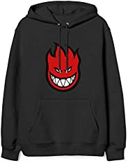 Spitfire-Fire-Logo- Hoodie for Women Kangaroo Pocket Long Sleeve Pullover