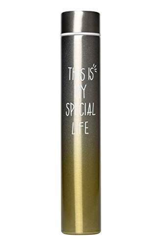 Insulated Water Bottle, Coffee Thermos Mug, Double Wall Vacuum Insulation, 2019 New Fashion Style Skinny Mini Slim Stainless Steel Water Bottle, 8.5 Oz (Gradual Pink Yellow 250ml)