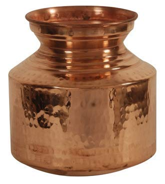 Finaldealz Copper ghagri Copper ghagar Copper Jars and containers Pot Copper ghaggar Copper Matka