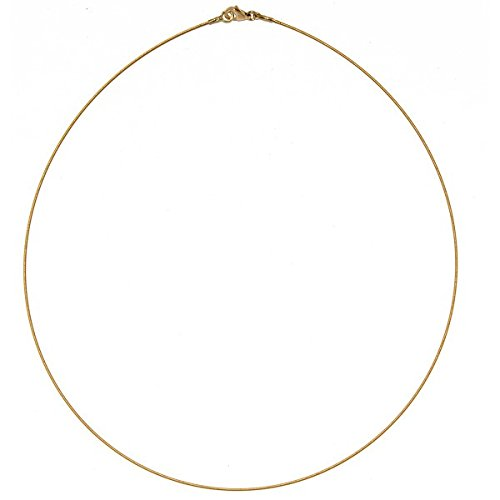 14k Yellow Gold 0.7mm Twist Wire Cable Chain Necklace - 18 Inch 14k Yellow Gold Twist Wire