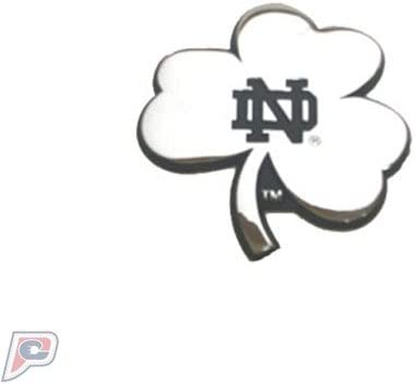 Patch Collection Notre Dame Fighting Irish Shamrock Solid Metal Chrome Emblem AMG