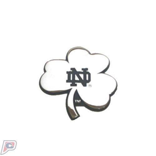 Notre Dame Fighting Irish Shamrock Solid Metal Chrome Emblem AMG Notre Dame Emblem