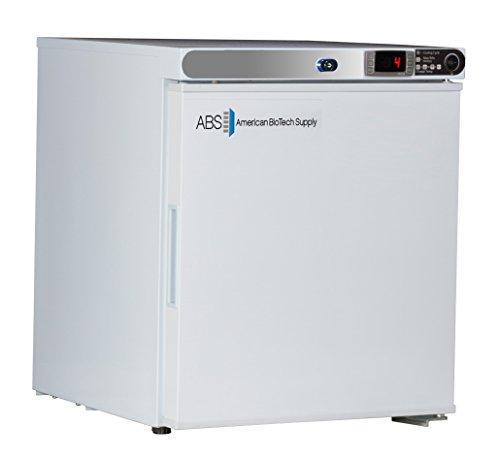 American BioTech Supply ABT-HC-UCFS-0120-LH Premier Undercounter Freezer, Freestanding, Left Hinged, 1.7 cu. ft. Capacity, White