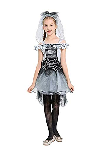 Firecos Halloween Elf Outfit Queen Role-Playing Skirt Suit Girl Cute Costumes Dress(110) Black]()