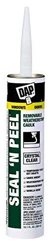dap 18354 seal 39 n peel removable clear caulk 10 1 ounce 6 pack buy online in uae hi. Black Bedroom Furniture Sets. Home Design Ideas