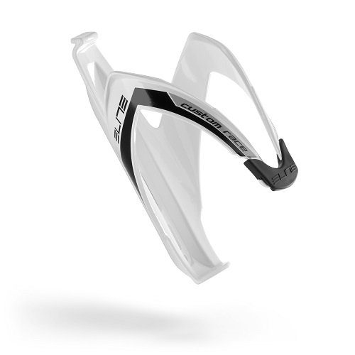 Elite Custom Race Bottle Cage, White Black