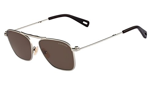 G-Star Raw GS108S Aviator Sunglasses, Silver Semi Matte, 55 - Sunglasses Raw Star G