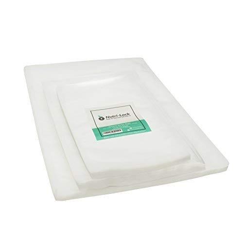 Nutri-Lock Vacuum Sealer Bags. (150 Bags) 50 Pint, 50 Quart & 50 Gallon Food Sealer Bags for FoodSaver, Sous Vide