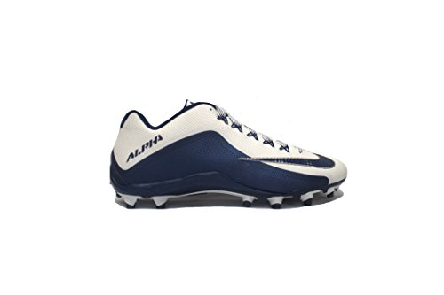 Nike Alpha Pro 2 TD Football Cleats Cleated Shoes, 13 M (US) White/Navy Blue (Nike Mens Alpha Pro 2 Td Football Cleats)