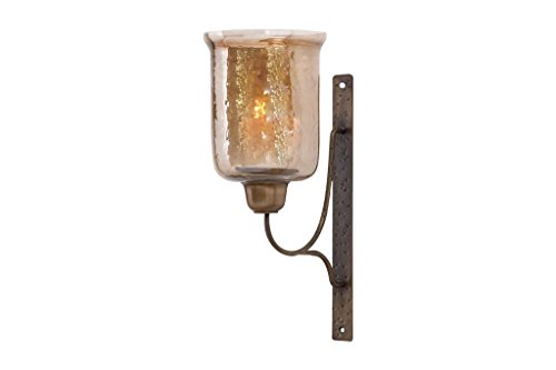 Deco 79 34552 Metal Glass Candle Sconce 17