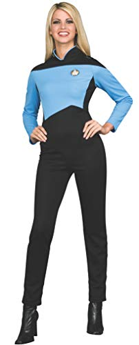 (Rubie's Women's Star Trek The Next Generation Deluxe Science Uniform Jumpsuit, Blue, Extra)