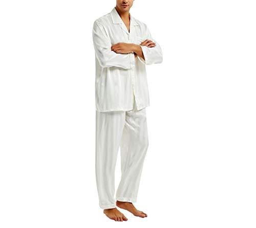 Seta Loungewear Di Uomo In Set Splento Raso Da Pigiama 4xl Nero wBnZqS