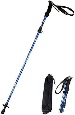 Alafen Aluminum Collapsible Ultralight Travel Trekking Hiking Pole for Men and Women