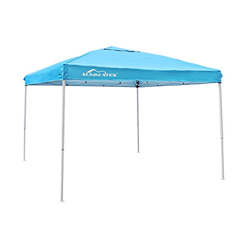 Summates 10X10ft Instant Canopy,Pop Up Canopy,Booth Canopy,Color Light Blue,Royal Blue,Khaki,Green,Gray Aavilable (10 x 10ft, Pacific Blue)