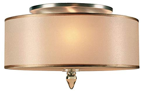 Crystorama 9503-AB Transitional Three Light Ceiling Mounts from Luxo collection in Brass-Antiquefinish,