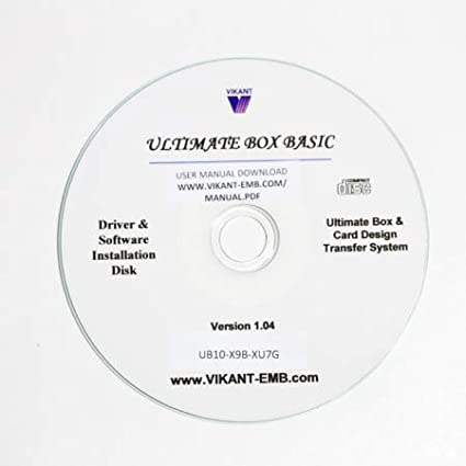 Vikant Embroidery Design Converter for Windows 10 7 and MAC for PES Brother Type and HUS Viking//Husqvarna Machine Embroidery Designs 8 Ultimate Box USB Basic 1-Slot w//o Card