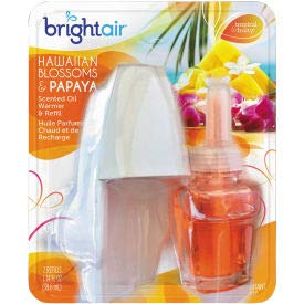 Bright Air Electric Scented Oil Air Freshener Warmer/Refill, Hawaiian Blossoms & Papaya - 900254EA, (Pack of 5) (900254EA) by Bright Air (Image #1)