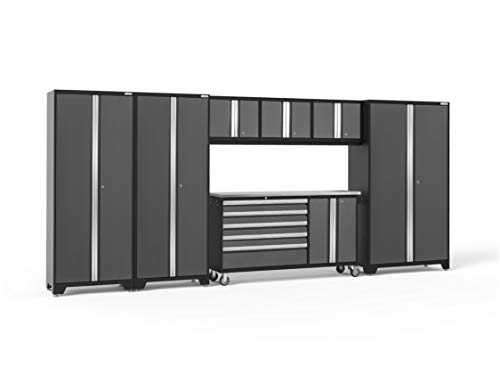NewAge Products Bold 3.0 Gray 7 Piece Set, Garage Cabinets, 50587