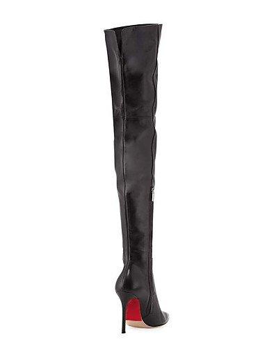 Black eu43 La Black Black zapatos Mujer De Tacón Oficina us11 us8 Trabajo cn44 Noche A casual Botas Y botas Xzz Semicuero fiesta Moda Oklop Stiletto uk9 eu43 Cn40 Eu39 Uk6 5 uk9 cn44 us11 Puntiagudos 5 w1zqHH