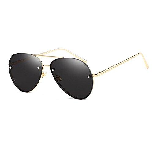 soleil soleil monture métallique 62 verres surdimensionnée des Femmes Lunettes de de aviateur black millimete Lunettes largeur JUNDASI Hommes qnAv4wAI