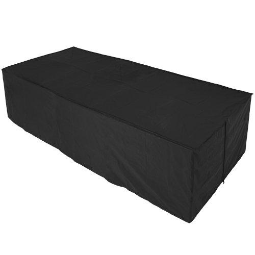 Schutzhülle für Tisch Stühle Sitzgruppen Sitzgarnituren, Wetterplane Abdeckhaube 307x136x88cm
