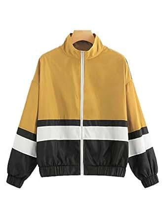 Milumia Women Colorblock Windbreaker Lightweight Athletic Casual Jacket Multicolor-1 S