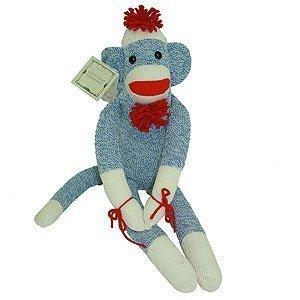 Blue Sock Monkey - Blue Original Sock Monkey Usa Made