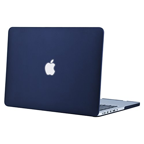 Mosiso Plastic Hard Case Cover Only for MacBook Pro 13 Inch with Retina Display No CD-Rom (A1502/A1425, Version 2015/2014/2013/end 2012), Navy Blue