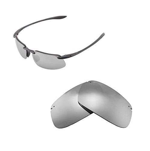 Walleva Replacement Lenses For Maui Jim Kanaha Sunglasses - Multiple Options available (Titanium - - Jim Lens Maui Replacement