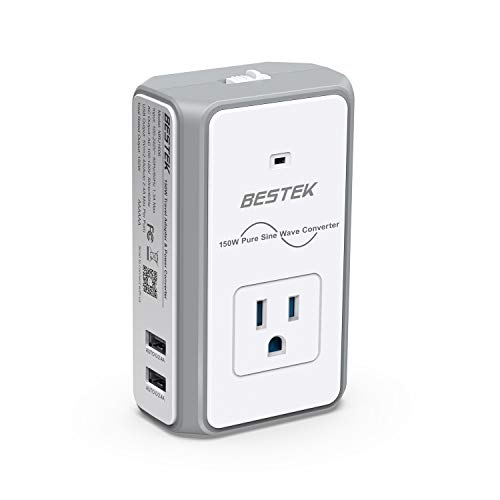 TEK Travel Adapter Converter Combo, 220V to 110V Voltage Converter 4.2A Dual Smart USB UK/AU/US/EU Worldwide Plug (White) ()