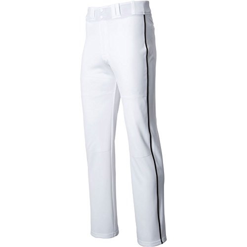 Easton Men's Rival 2 Piped Baseball Pants, White/Black, X-Small