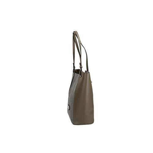 CARDIN mujer 2 apertura zip taupe shopper VN3051 asas de hombro Bolso PIERRE XRSq1x