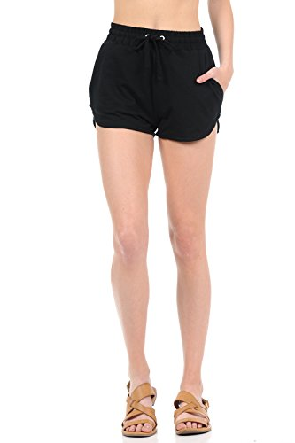 Popular Ambiance Womens Juniors Jogger Gym Shorts with Free Bra