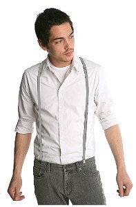 Urban Youth 1/2'' Hold-Up Suspender in X-back with No-slip Clips (Grey) by Hold-Up Suspender Co. (Image #5)
